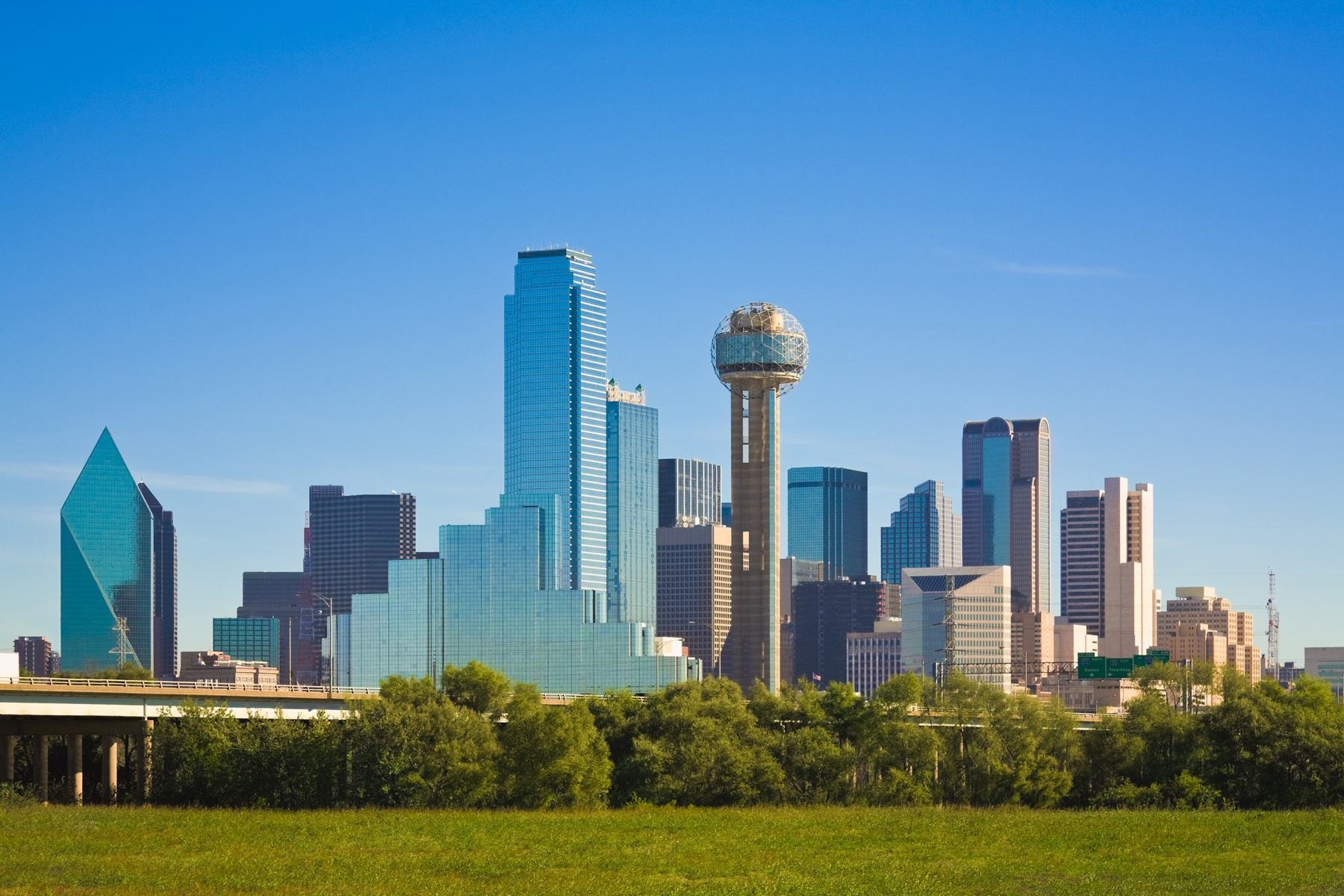 Dallas city skyline, Dallas, Texas